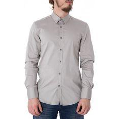 Koszula męska ANTONY MORATO szara z długim rękawem gładka