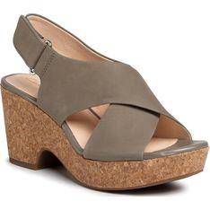 Sandały damskie Clarks z nubuku
