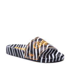 Klapki BUFALLO - Rina BN16110481  Black/White Zebra