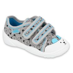 Befado obuwie dziecięce  907P129 czarne niebieskie szare