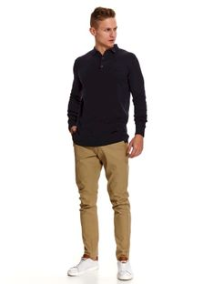 Sweter z kołnierzem w stylu polo