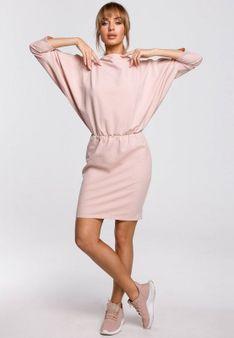 MOE - Sukienka z dżerseju - różowy