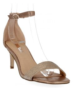 Modne sandały damskie na obcasie firmy Bellucci Szampańskie (kolory)