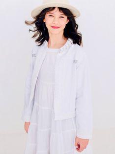 Biała kurtka jeansowa dziecięca Anima by Justyna Steczkowska