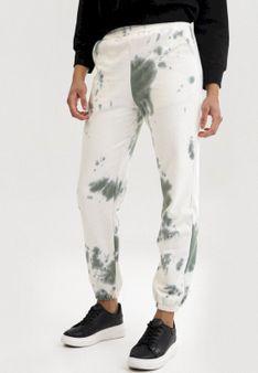 Biało-Zielone Spodnie Qhesanya