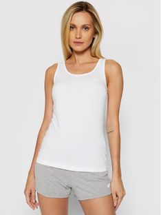 4F Bluzka NOSH4-TSD003 Biały Slim Fit