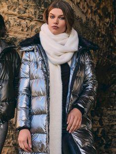 Długa pikowana kurtka LALUNA.700W20 Rino & Pelle