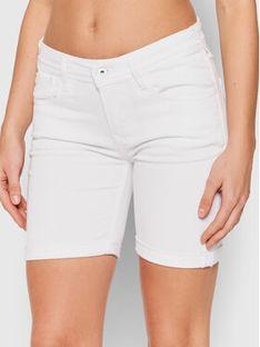 Pepe Jeans Szorty jeansowe Poppy Pride PL800910 Biały Regular Fit