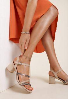 Beżowe Sandały Theisusi