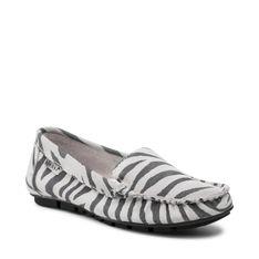 Mokasyny NESSI - 17130 Biały Zebra