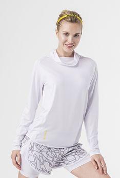 Bluza z kominem biały