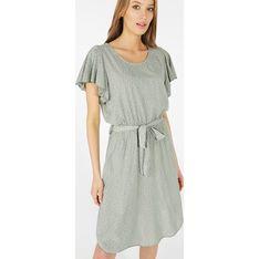 Sukienka Unisono z okrągłym dekoltem koszulowa mini