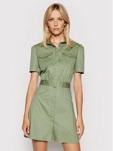 Guess Sukienka koszulowa W1GK0O WDXM0 Zielony Regular Fit