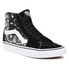Sneakersy VANS - Sk8-Hi VN0A32QGD9S1 (Bandana) Black/Truewhite