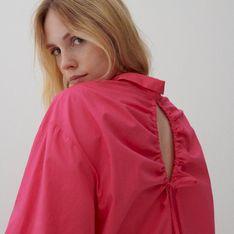 Reserved - Koszula z wiązaniem na plecach - Różowy