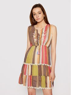 Iconique Sukienka letnia Linda IC21 054 Kolorowy Regular Fit