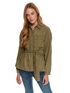 Dłuższa koszula oversize z naszywanymi kieszeniami