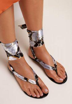Czarne Sandały Sagedice
