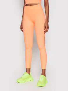 DKNY Sport Legginsy DP1P2594 Pomarańczowy Slim Fit