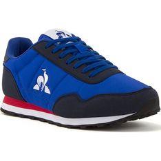 Buty sportowe męskie Le Coq Sportif z tkaniny niebieskie sznurowane na wiosnę