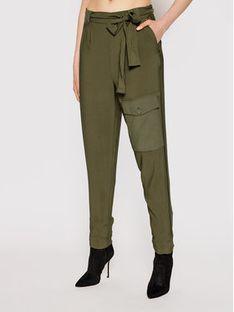 TwinSet Spodnie materiałowe 211TT2161 Zielony Regular Fit