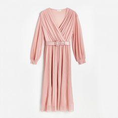Reserved - Sukienka damska i pasek - Różowy