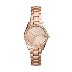 Zegarek FOSSIL - Scarlette ES4318 Rose Gold/Rose Gold