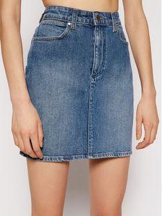 Wrangler Spódnica jeansowa Mid W245JX28Z Niebieski Regular Fit
