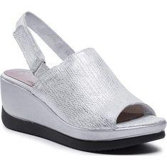 Sandały damskie Simen zamszowe casual z klamrą