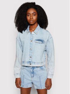 NA-KD Kurtka jeansowa 1660-000538-0047-581 Niebieski Regular Fit