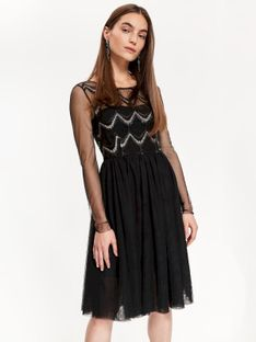 Sukienka damska z koronką, z cekinami