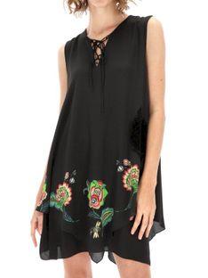 Sukienka z asymetrycznym dołem w kwiaty Desigual BRENDON