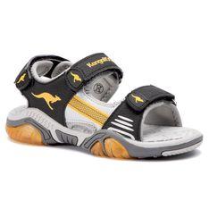 Sandały KANGAROOS - Sandalshine 18353 000 5028 Jet Black/Sun Yellow