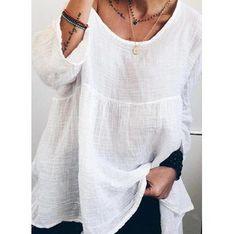 Biała bluzka damska Sandbella z długim rękawem