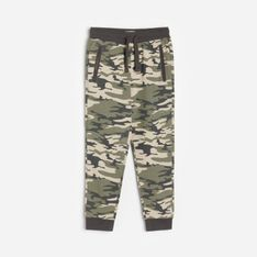 Reserved - Spodnie dresowe moro - Khaki