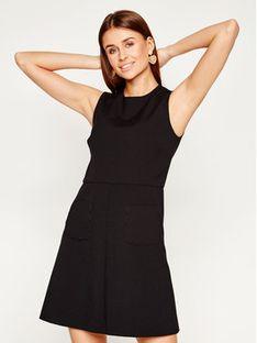 Red Valentino Sukienka codzienna TR3VAM15 Czarny Slim Fit