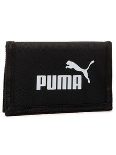 Puma Duży Portfel Męski Phase Wallet 075617 01 Czarny