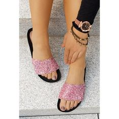 Różowe klapki damskie Saway casual