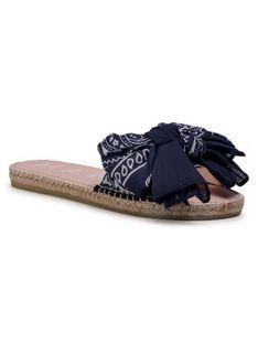 Manebi Espadryle Sandals With Bow F 9.6 J0 Granatowy