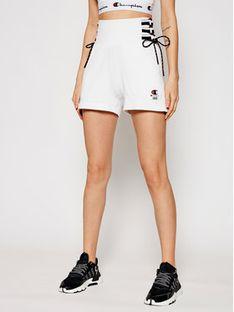 Champion Szorty sportowe Lace Up Side Sweat 112896 Biały Custom Fit