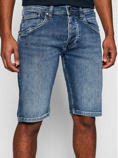 Pepe Jeans Szorty jeansowe Track PM800487 Granatowy Regular Fit
