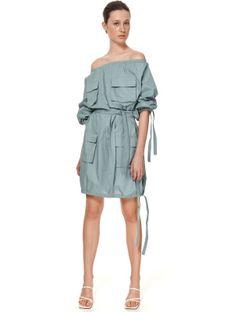 Sukienka oversize z wiązaniami