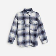 Reserved - Kurtka koszulowa z domieszką wełny - Granatowy