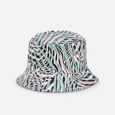 Reserved - Dwustronny kapelusz bucket hat - Biały