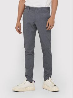 ONLY & SONS Spodnie materiałowe Mark Tap Check 22018649 Szary Tapered Fit