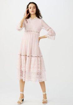 maje - Długa sukienka - jasnoróżowy