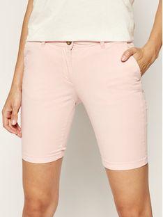 Napapijri Szorty materiałowe Noridian 1 N0YHH9 Różowy Slim Fit