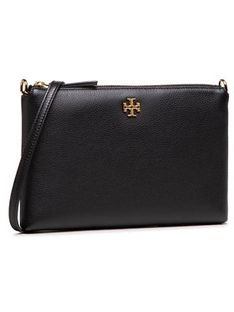 Tory Burch Torebka Kira Pabbled Top-Zip Crossbody 61385 Czarny