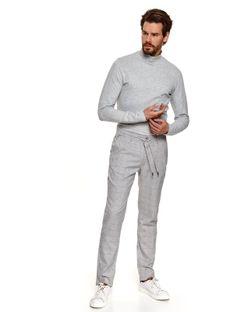 Spodnie tkaninowe w kratę typu jogger