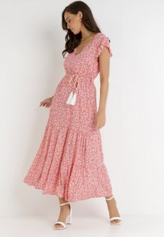 Koralowa Sukienka Cadulenn